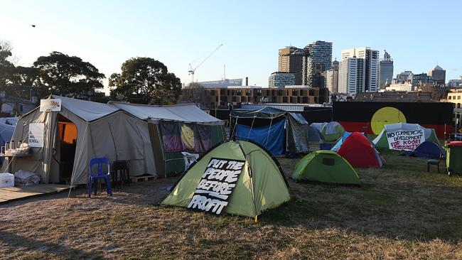 Tent Embassy residents have been issued with an eviction notice. Picture: John Feder