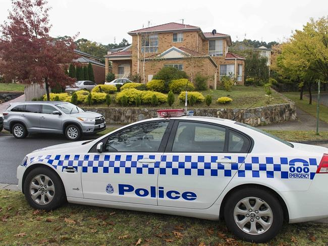 Police at a house on Montbrae Circuit in Narre Warren following raids in several Melbourn