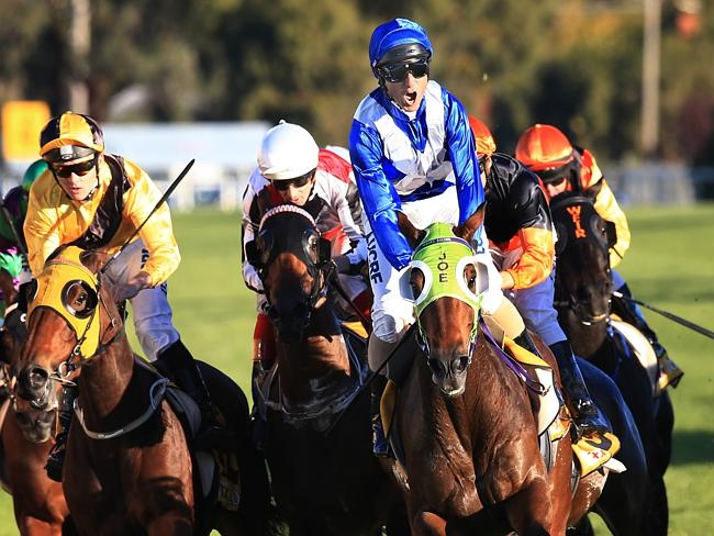 Glen Boss wins the Wagga Cup on Landlocked this month. Picture: Mark Evans