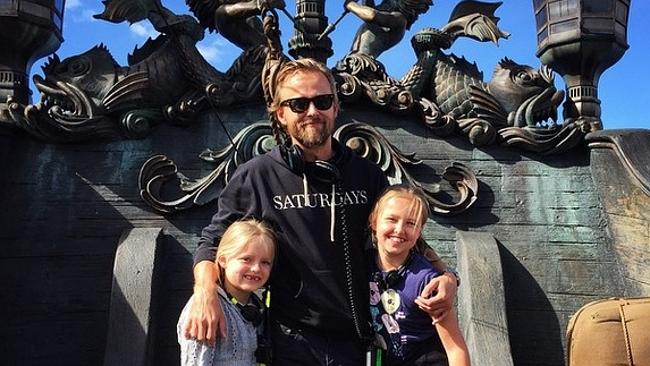 Director Joachim Ronning's daughters join him on the Pirates of the Caribbean set. Pictur