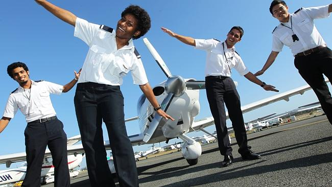 Learning to fly ... Students from across the globe train at the Australian Wings Academy