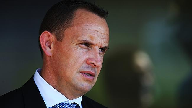 Trainer Chris Waller during Warwick Farm races. pic Mark Evans