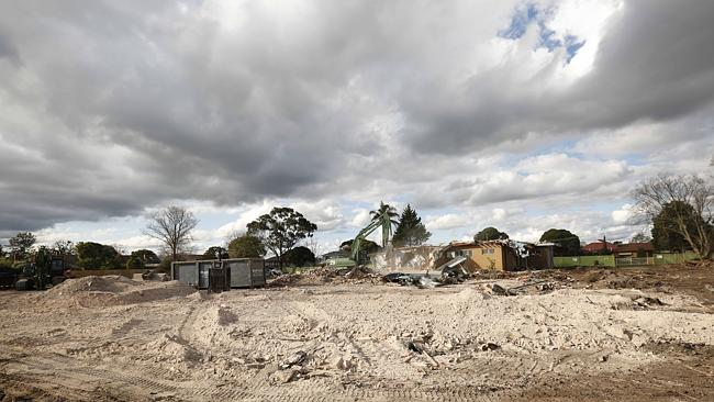 The historic Frogmore House tower in Carnegie has been demolished. Picture: Valeriu Campa