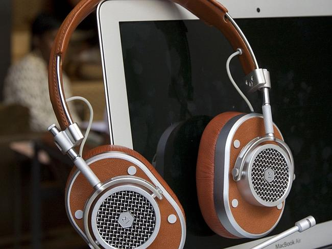 Master & Dynamic headphones for personal communication. (Photo: Brian Zak)