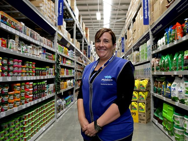 Masters Rouse Hill, in Sydney's west, had its grand opening in April. Pictured is staff m