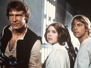 A film image from Star Wars Episode 4; A New Hope
