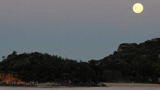 A full moon over Manly on Sydney's north shore.