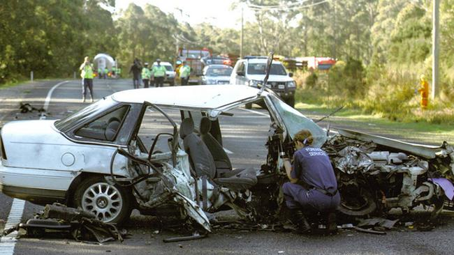 Amazingly, Sam Cawthorn survived this car crash.