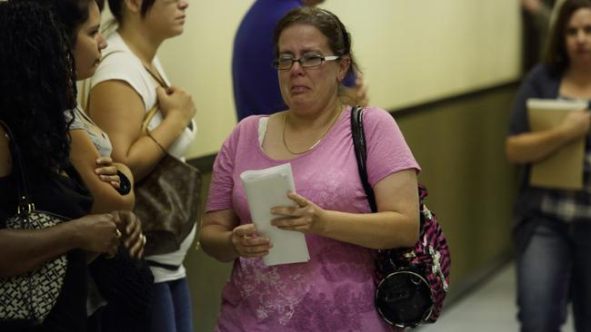 Jennifer Luna, the mother of Chancey Luna, leaves court Photo: Andrew Quilty.