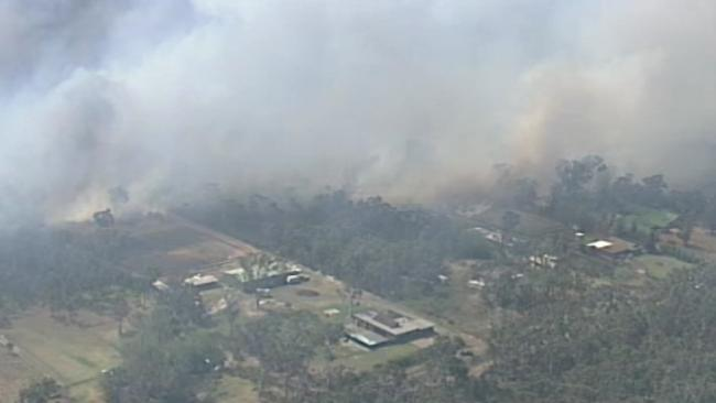Aerial pics from Channel 9 of the Castlereagh bush fire.