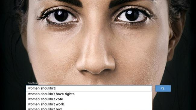 Ads show sexism in Google searches