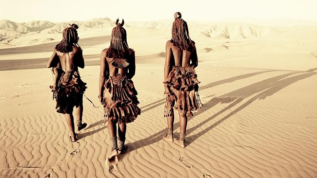 The Himba are an ancient tribe of semi-nomadic herders, living since the 16th century in scattered settlements throughout the re