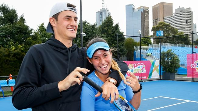 Bernard Tomic and his sister Sara are both seen as the future of Australian tennis.