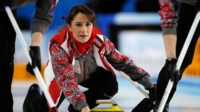 Russia's curling captain Anna S...