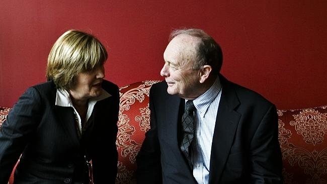 Harvey Norman chairman Gerry Harvey with managing director and wife Katie Page.