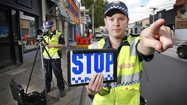Police ready to pull over drivers caught out with news road safety cameras. Picture: Davi