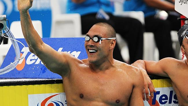 Comeback king: Huegill wins the 50m butterfly final during the 2010 Australian championsh