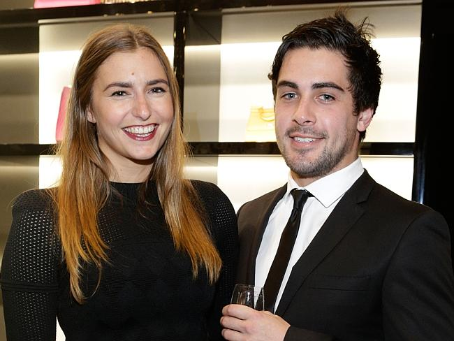 Frances Abbott with boyfriend Lindsay Smith at the Dolce & Gabbana cocktail party in Melb