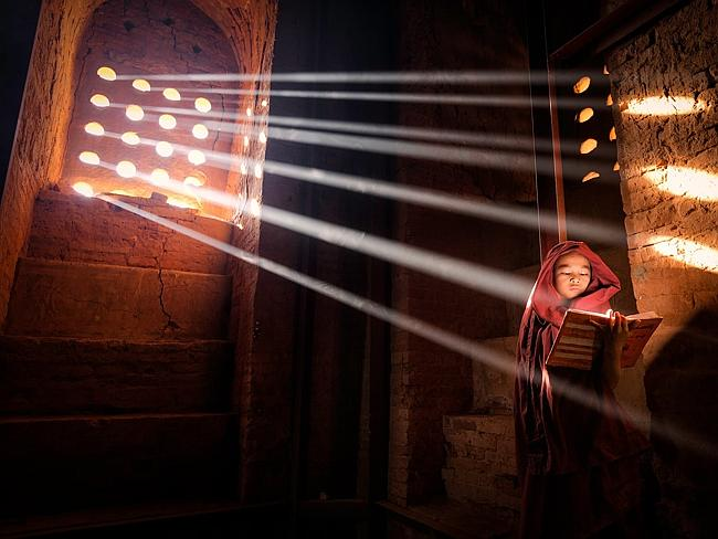 """LightSource"" by Marcelo Castro / National Geographic Traveler Photo Contest Young Monk f"