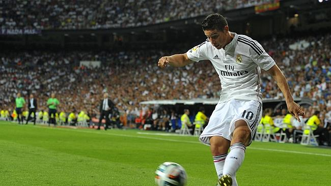 Real Madrid's Colombian midfielder James Rodriguez.