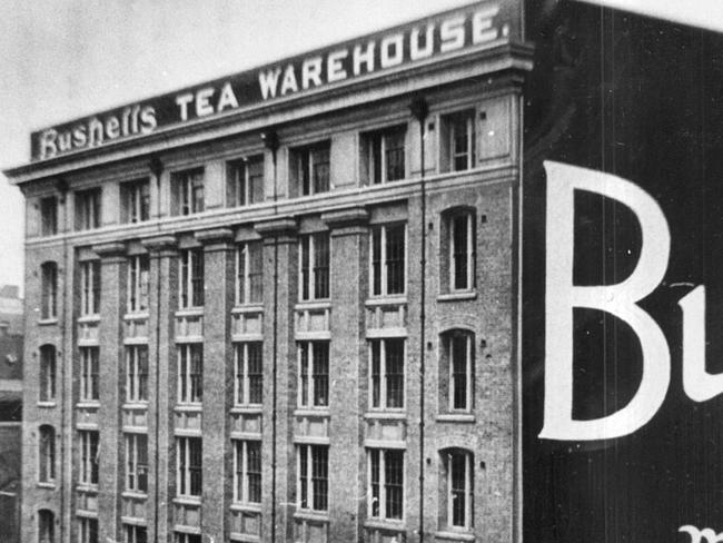 Bushells tea warehouse in The Rocks, Sydney, in the early 1900s.