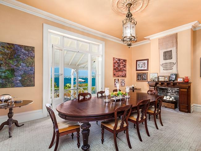 The home offers plenty of formal and casual entertainment spaces.