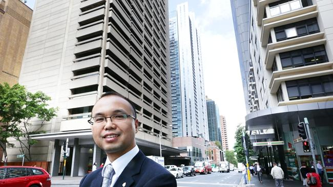 Sherwood Luo Managing Director of Greebland Holding Group pictured 115 Bathurst Street, Sydney. Which will be Sydney's talles...