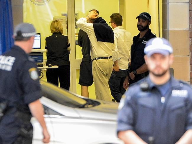 Friends and family of the injured arrive at hospital. Photos: Chris McKeen