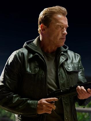 Arnie in the 2015 film Terminator: Genysis.