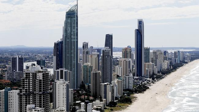 Residents felt Gold Coast high-rises shake during the earthquake. Picture: JERAD WILLIAMS