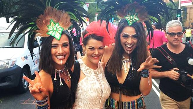 Sarah Hanson-Young at this year's Mardi Gras celebrations in Sydney. Picture: Facebook