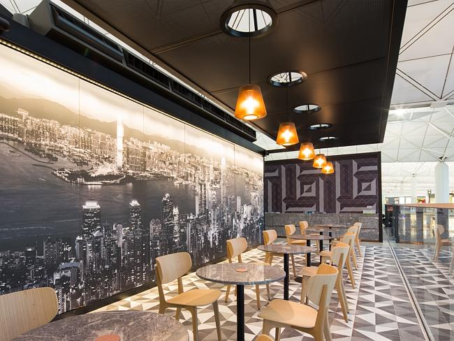The lounge has drawn on local inspiration in its design.
