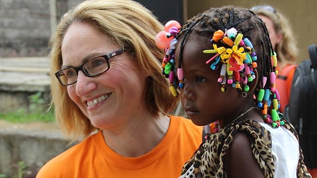 Lisa Bonadonna, head of drug company GlaxoSmithKline's partnership with Save the Children