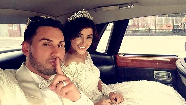 Salim Mehajer and bride Aysha in Lidcombe / Picture: Supplied