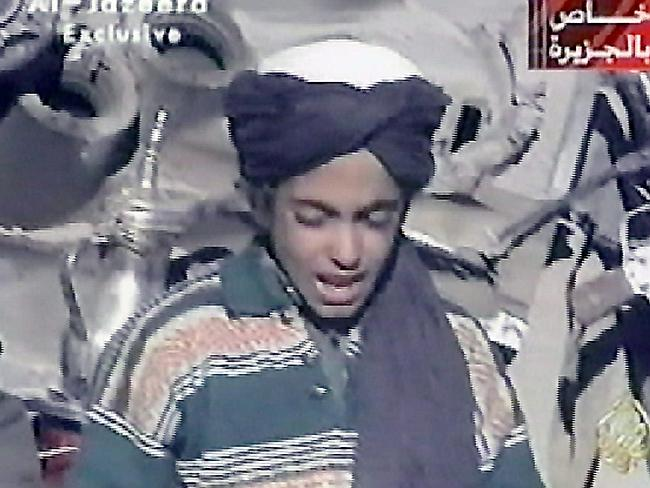 Hamza bin Laden, youngest of four sons of prime terror suspect Osama bin Laden, is seen r