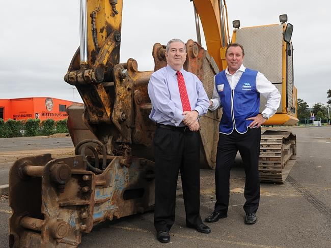 Construction of a new Penrith Masters store is under way at the old Sinclair Ford and Wes