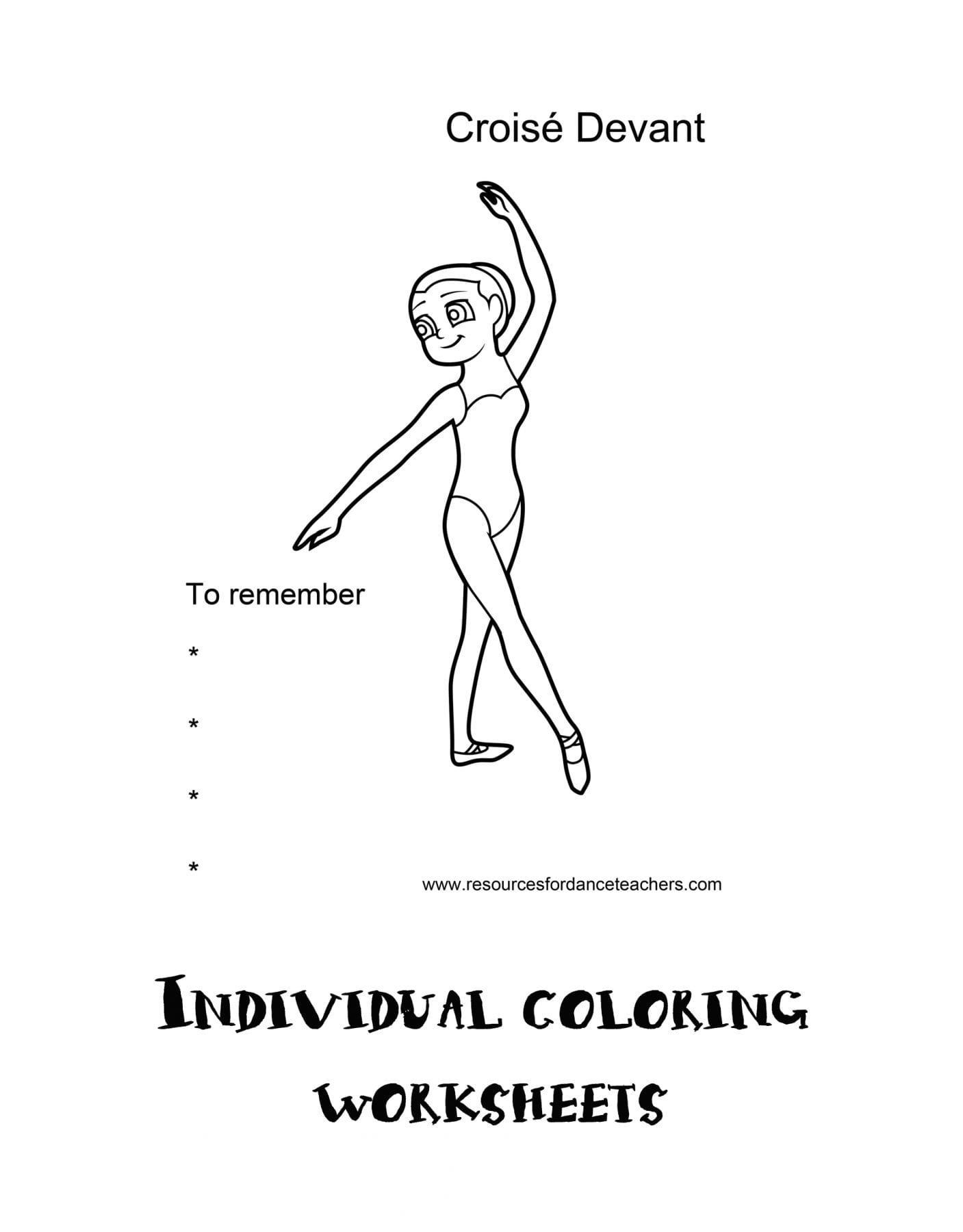 Ballet Body Directions Activity Pack