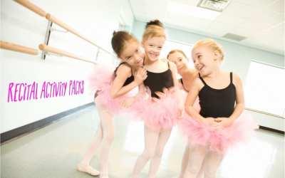 Recital activities –  ballet activity pack for recitals, camps and parties