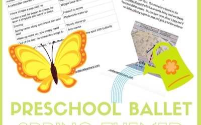 Preschool ballet class plan – spring theme