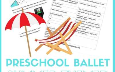 Preschool Ballet summer themed class