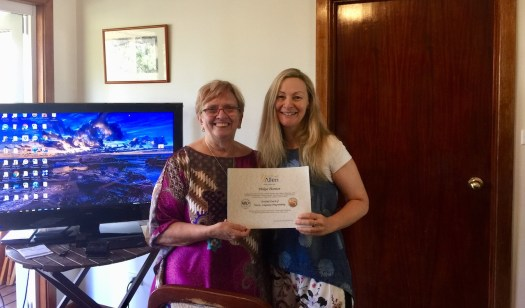 Here Yvette Allen and I. I have just finished Yvette's NLP training course.