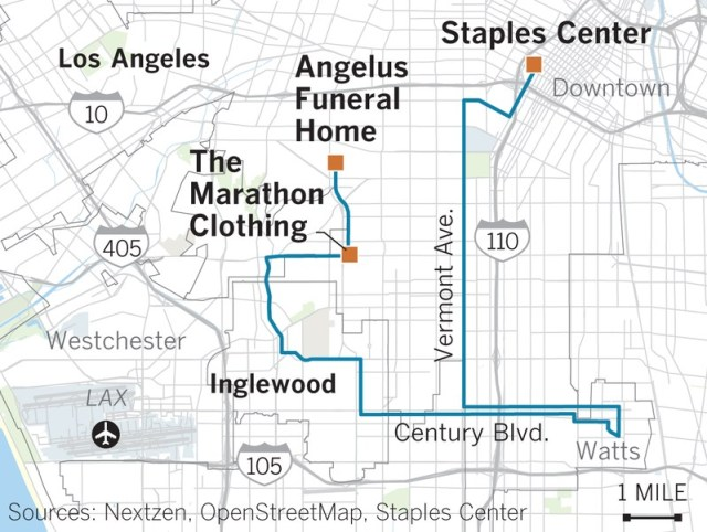 Nipsey Hussle Procession