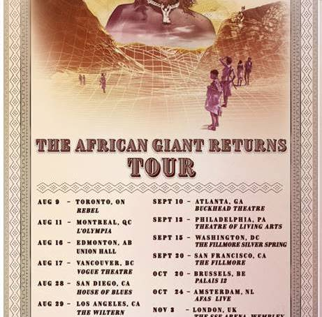 Burna Boy Announces The African Giant Returns Tour Respect