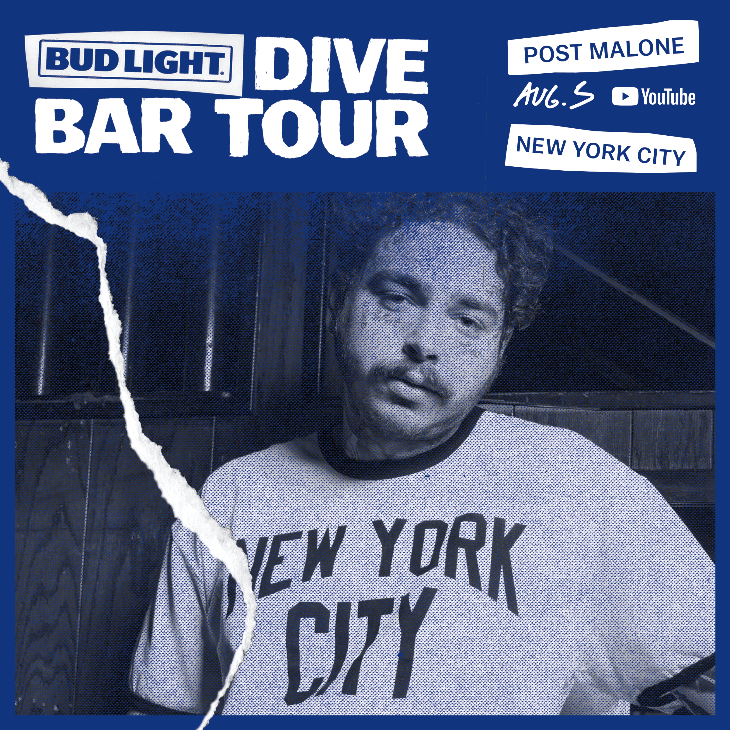 Post Malone Returns To The Bud Light Dive Bar Tour Stage