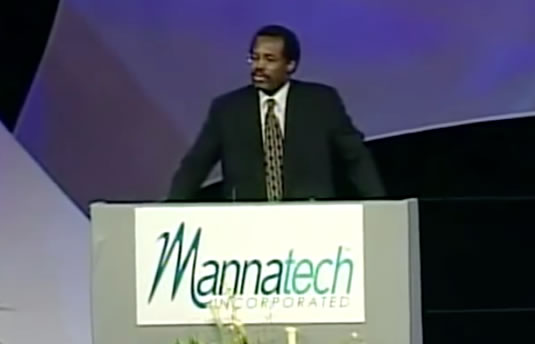 Ben Carson's alternative cancer cure testimonial for Mannatech - RESPECTFUL INSOLENCE