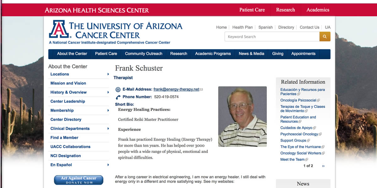Frank Schuster at UACC