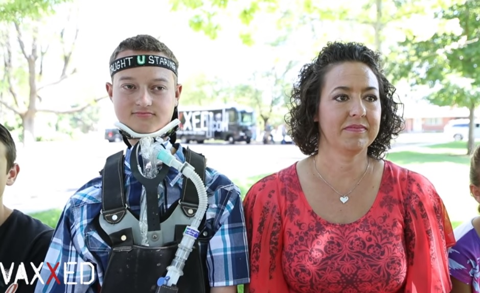Colton Berrett and his mother