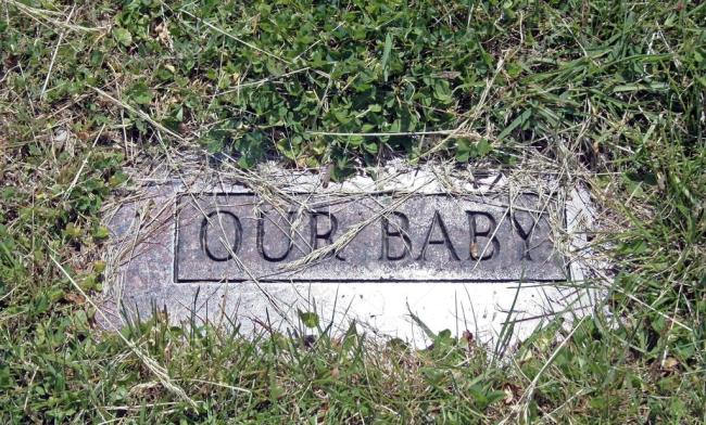 Child's tombstone