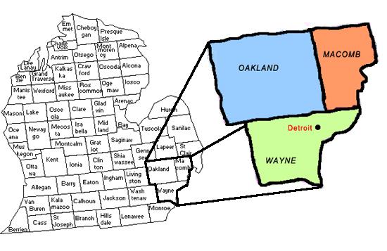 Detroit Tri-County area
