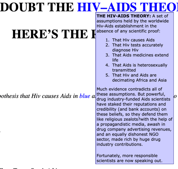 HIV/AIDS petition rant